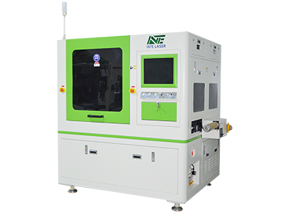Double-head roll-to-sheet (roll-to-roll) cover film laser cutting equipment